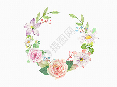大玫瑰花花环高清图片