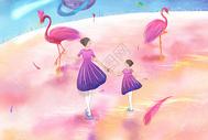 亲子梦幻旅行粉色星球图片