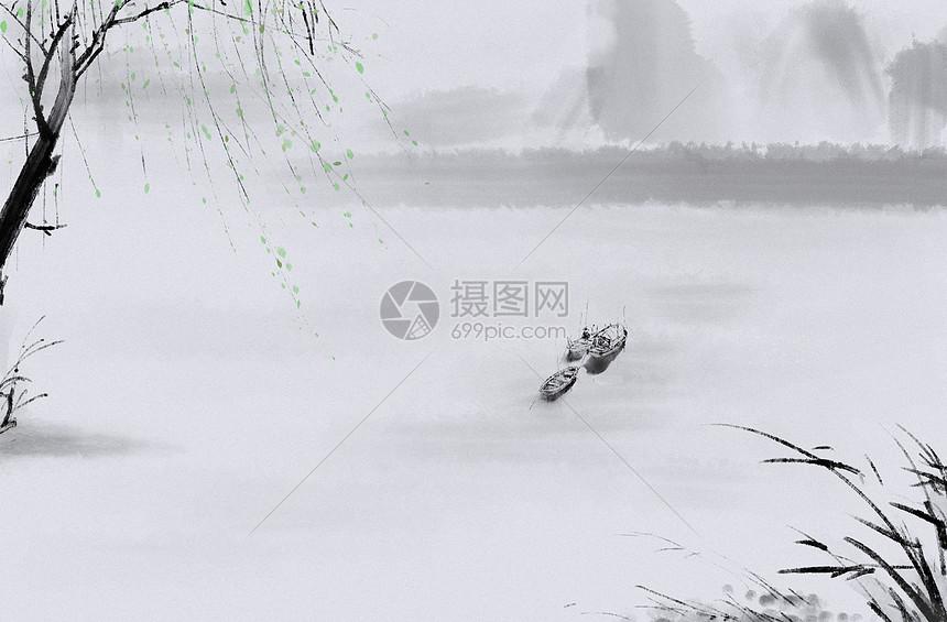 水墨初春写意图片