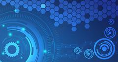 蓝色智能科技背景图片