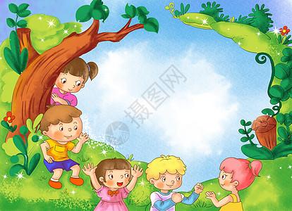 一群小朋友玩游戏高清图片图片