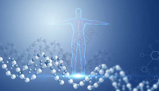 医疗科技基因链图片