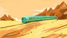 高原的列车图片