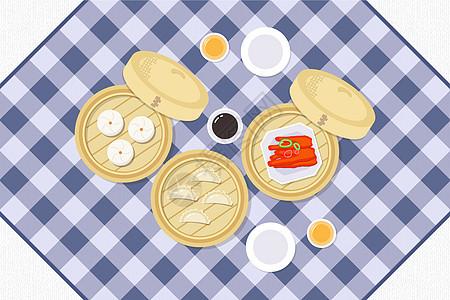 美味的粤式早茶图片