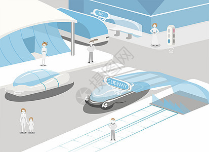 未来生活——智能交通图片