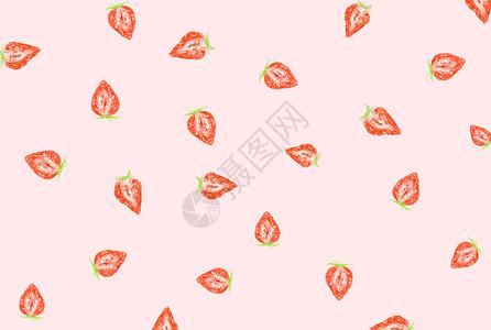 手绘草莓壁纸图片