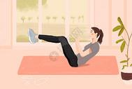 健身的女孩图片