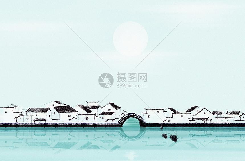 水墨江南图片