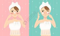 在做美容护肤的美女图片