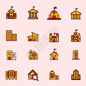 学校建筑物图标图片
