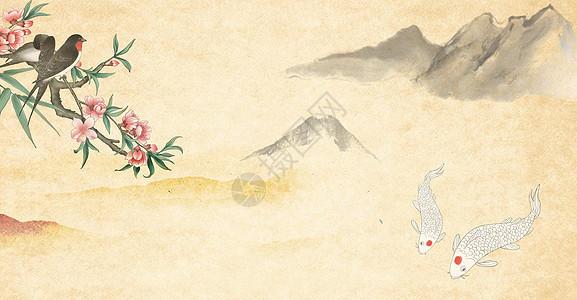 水墨复古中国风背景图片