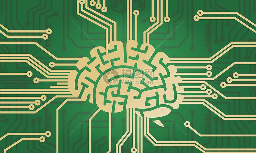 大脑电路科技图