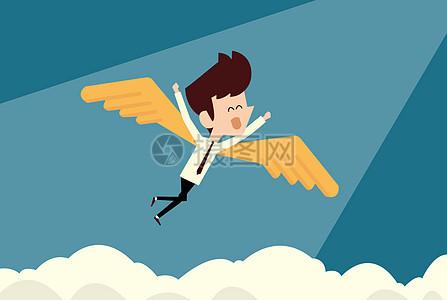 飞越梦想的小白图片