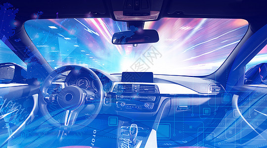 未来智能化驾驶舱图片