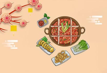 矢量美食背景素材图片