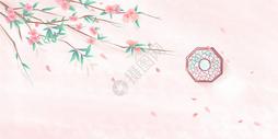 中国风桃花背景图片