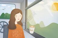旅途中的女孩图片
