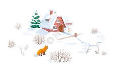冬季插画图片