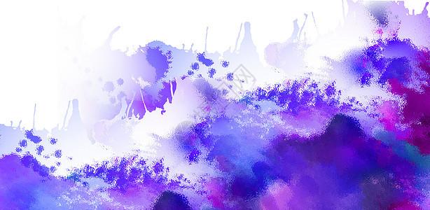 晕染蓝紫色背景图片