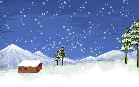 冬天雪地景色图片