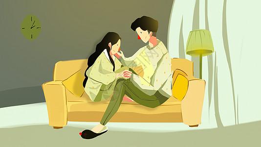 睡衣情侣图片