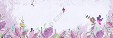 清新唯美花背景图片