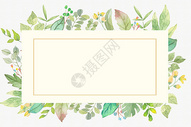 手绘花卉装饰框图片