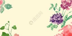 水彩花景图片
