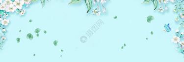 蓝色花丛背景图片