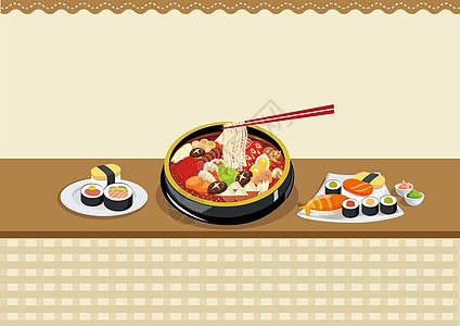 火锅寿司图片