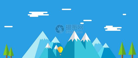 蓝色banner矢量背景图片