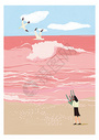 粉色的海图片