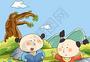 儿童读书插画封面图片
