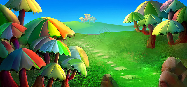梦幻森林唯美风景图片