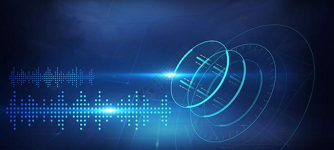 空间体波音科技背景图片