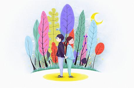 韩风手绘人物风景图片