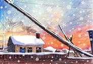 雪乡日出图片