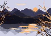 渔舟唱晚图片