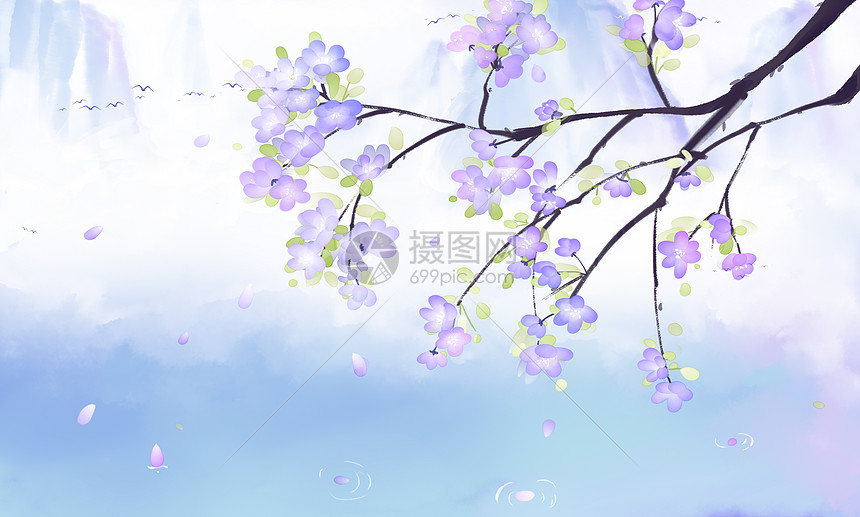 中国风古风唯美小清新背景