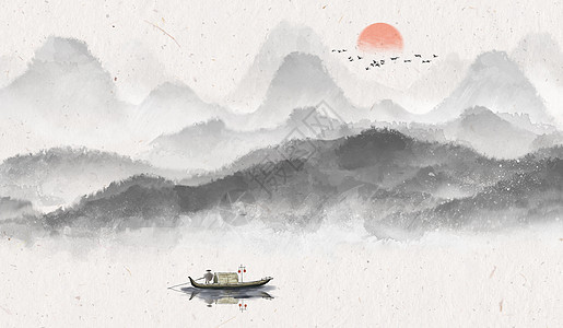 中国风水墨意境背景图片