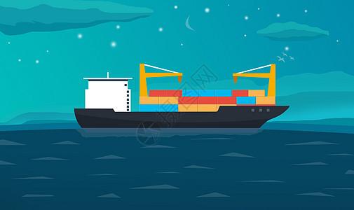 海上贸易运输船图片