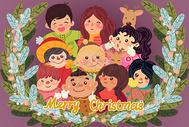 圣诞节插画图片