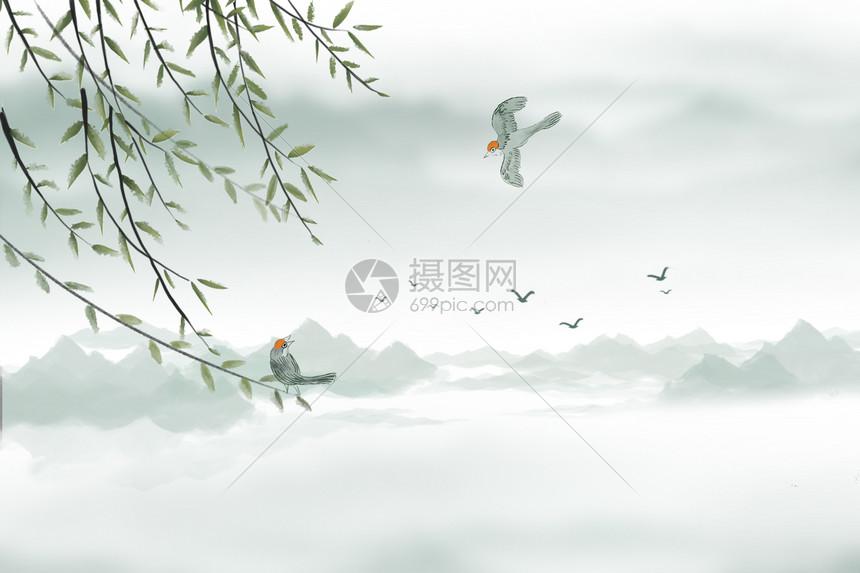 中国水墨风背景图片