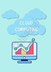 电脑图形云计算图片