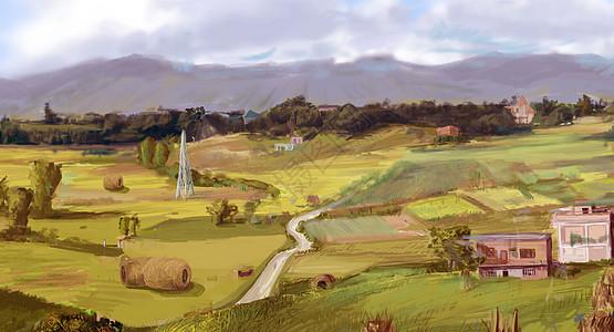 唯美乡村风景图片