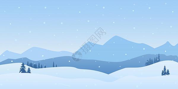 雪中的山峰图片