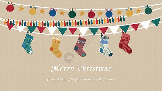 圣诞彩挂图片