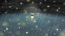 星空下少女图片