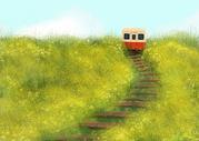花田里的小火车图片