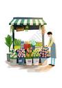 暖暖的鲜花小店图片